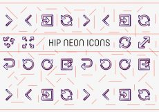 Free vector Free Hip Neon Vector Icons #5886