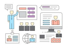 Free vector Free Linear Business People Management Icons #6805