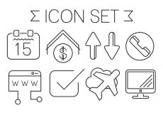 Free vector Free Minimal Style Contact Icons #4875