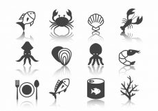 Free vector Free Seafood Icons Vector #8781