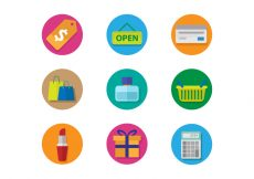 Free vector Free Shopping Icons Vector #7880
