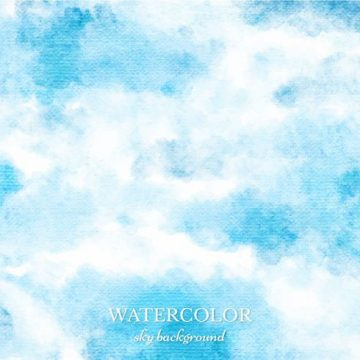 Free vector Free Vector Blue Watercolor Sky Background #10807