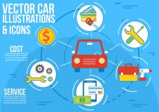 Free vector Free Vector Car Illustration and Icons #5334