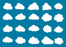 Free vector Free Vector Clouds Icon Collection #10105