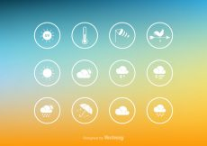 Free vector Free Vector Weather Icon Set #5222