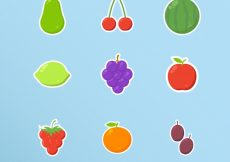Free vector Fruit sticker collection #4171