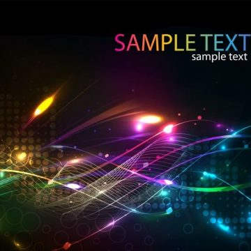 Free vector Futuristic Abstract Glowing Light Curves Background #5031