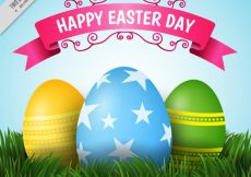 Free vector Grass background with easter eggs #11223