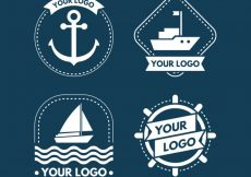 Free vector Great collection of white boat logos #4535
