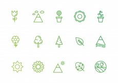 Free vector Green nature icons #5565