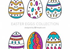 Free vector Hand-drawn easter egg collection #11529