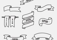 Free vector Hand drawn ribbon collection #3668