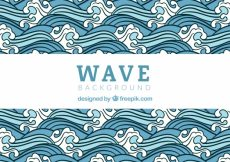 Free vector Hand drawn wave ornamental background #3703