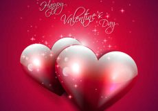 Free vector Happy Valentine's Day Red Backgrounds #5028