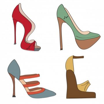 Free vector Illustrations of high heel shoes #6824