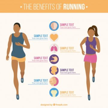 Free vector Infographic template of woman and man running #5069