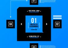 Free vector Infographic template with square shape #6011
