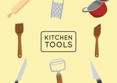 Free vector Kitchen tools pack #6986