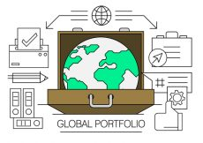 Free vector Linear Global Business Elements #9569
