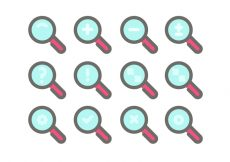 Free vector Lupa Icon Vector Sets #10163