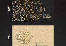 Free vector Luxury business card with triangle design #6608