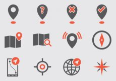 Free vector Map Legend Vector Icons #6681