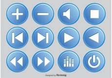 Free vector Media Player Button Set #7408