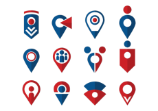 Free vector Meeting Point Icons Vector #6677