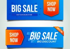 Free vector Modern discount banners #11647