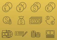 Free vector Money And Currency Icons #6385