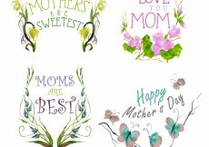 Free vector Mother love elements collection #7643