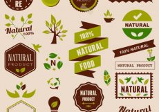 Free vector Natural logo collection #8972