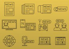 Free vector News Line Icons #4636