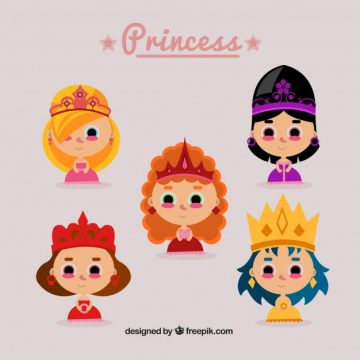Free vector Nice princesses with crowns #4611