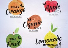 Free vector Organic fruit collection #4289