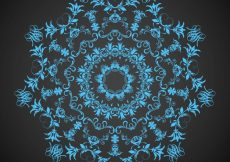 Free vector Ornament on a black background #11345
