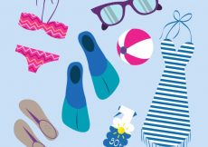 Free vector Pack of beach accessories #8562