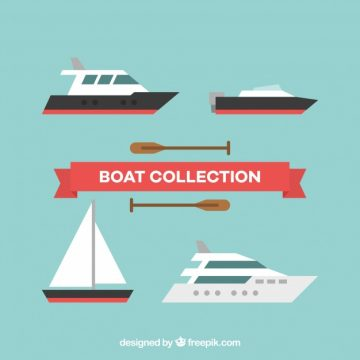 Free vector Pack of boats with variety of designs #5223