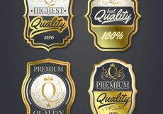 Free vector Pack of four vintage premium labels #10335