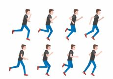Free vector Pack of man running with different postures #4997