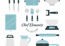 Free vector Pack of nice elements for cooking in flat design #9002