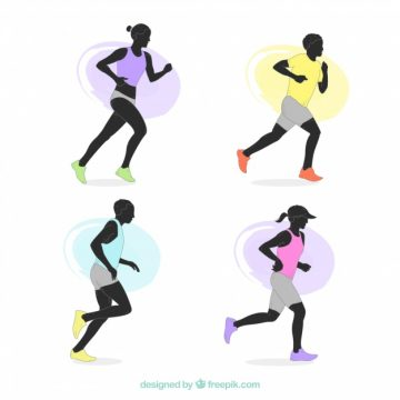 Free vector Pack of runners #5337