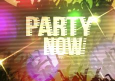 Free vector Party now poster design #7058
