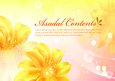 Free vector Pink banners with flowers #4414