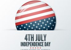 Free vector Realistic background with american flag in a circle #10004