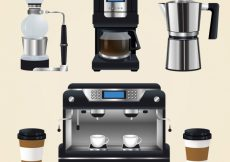 Free vector Realistic coffee maker pack #11333