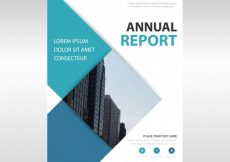 Free vector Rectangular professional annual report template #8195