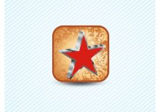 Free vector Red Star 3D Icon #8875