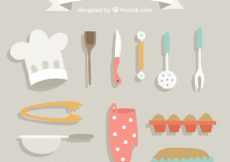 Free vector Retro kitchen accessories pack #9014