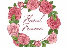 Free vector Roses wreath background #11709